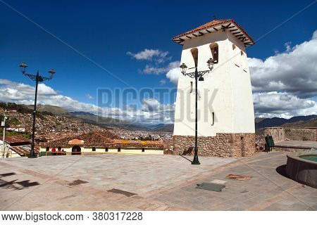 White Tower On Cusco Or Cuzco View Point, Peru