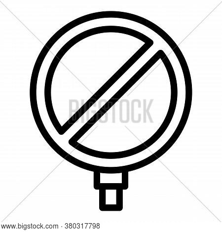 Stop Indicator Icon. Outline Stop Indicator Vector Icon For Web Design Isolated On White Background
