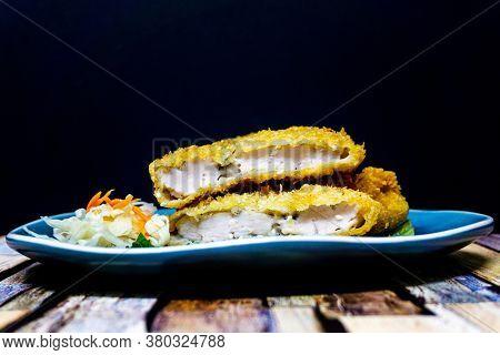 wiener schnitzel, veal cutlet and lemon, austrian cuisine
