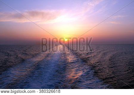 View Of A Greek Ferry, Greek Islands