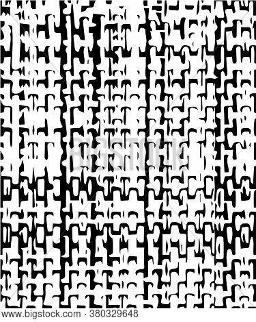 Monochrome, Seamless  Background, Texture Of Natural Fabrics (cotton, Textiles, Linen, Grunge ).  Bl