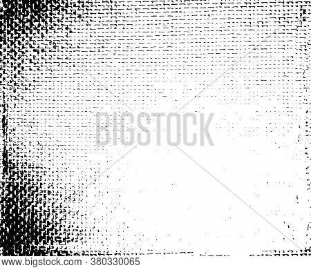 Monochrome Background, Texture Of Natural Fabrics (cotton, Textiles, Linen, Grunge ). Black Dots Iso