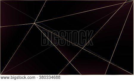 Red Luxury Polygon Texture. Elegant Dark Platinum Chic Shapes Banner Rich Silver Vip Geometric Celeb