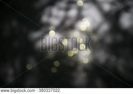 Abstract, Golden Bokeh For Backgrounds And Compositions