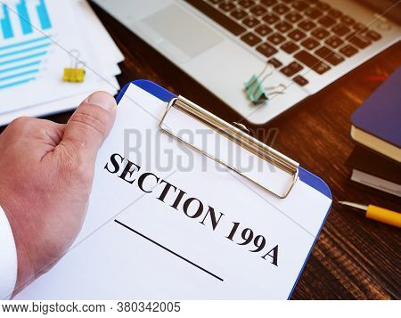 Man Shows Section 199a Of The Internal Revenue Code.