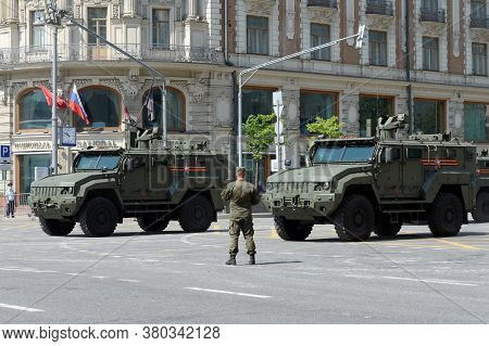 Moscow, Russia - June 20, 2020:multi-purpose Armored Vehicle