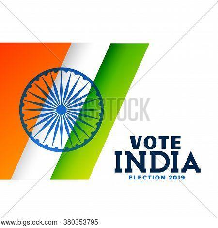 Indian General Election Poster Vector Design Illustration