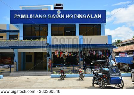 Aurora, Ph - April 21 - Dingalan Town Market Facade On April 21, 2019 In Dingalan, Aurora, Philippin