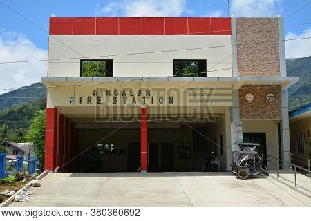 Aurora, Ph - April 21 - Dingalan Fire Station Facacde On April 21, 2019 In Aurora, Philippines.