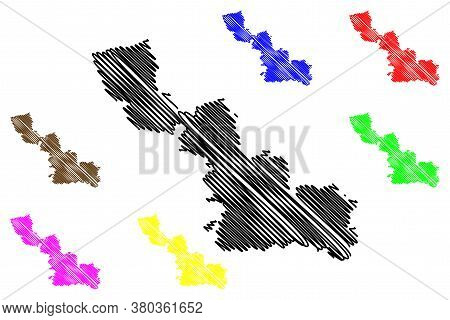 Nord Department (france, French Republic, Hauts-de-france Region) Map Vector Illustration, Scribble