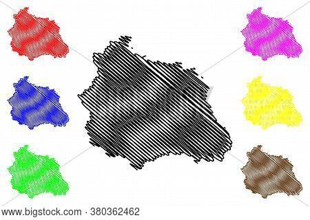 Puy-de-dome Department (france, French Republic, Auvergne-rhone-alpes Region, Ara) Map Vector Illust