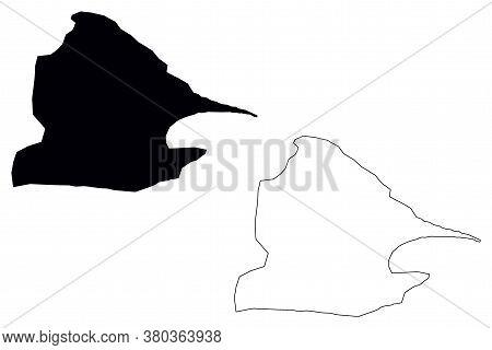 Santo Domingo City (republic Of Ecuador, Santo Domingo De Los Tsachilas Province) Map Vector Illustr