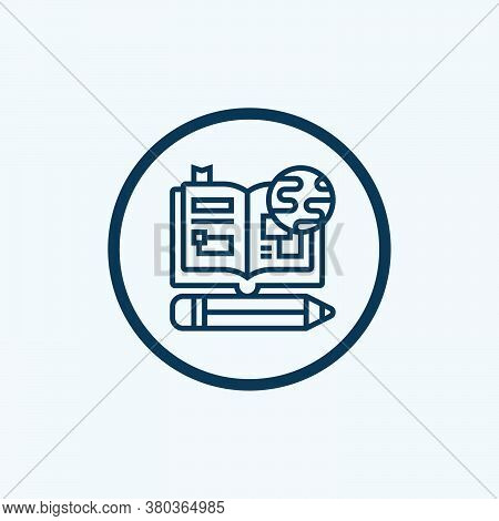 Online Education Icon Isolated On White Background From Learning Education Collection. Online Educat