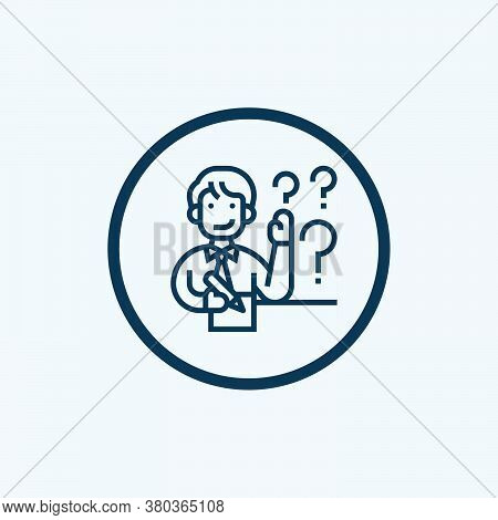 Question Icon Isolated On White Background From Miscellaneous Collection. Question Icon Trendy And M