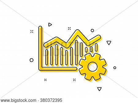 Cogwheel Sign. Operational Excellence Icon. Yellow Circles Pattern. Classic Operational Excellence I