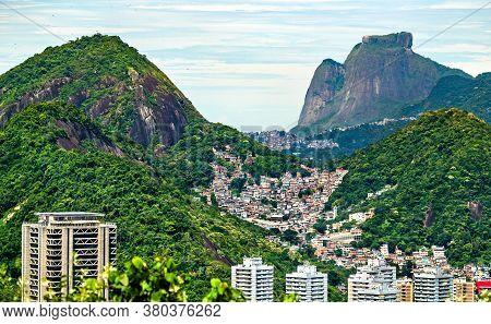 Favela Of Morro Dos Cabritos In Rio De Janeiro - Brazil