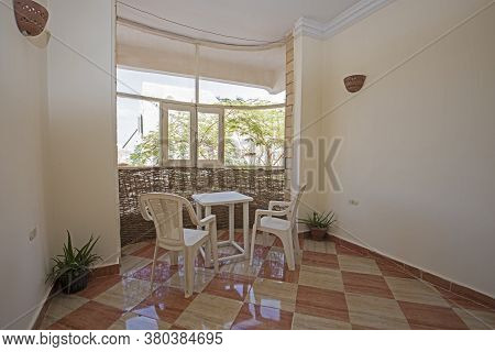 Balcony Patio Area In Luxury Apartment Show Home Showing Interior Design Conservatory Decor Furnishi