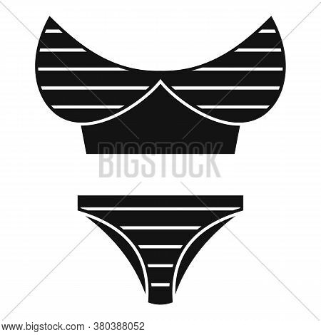 Elastic Swimsuit Icon. Simple Illustration Of Elastic Swimsuit Vector Icon For Web Design Isolated O