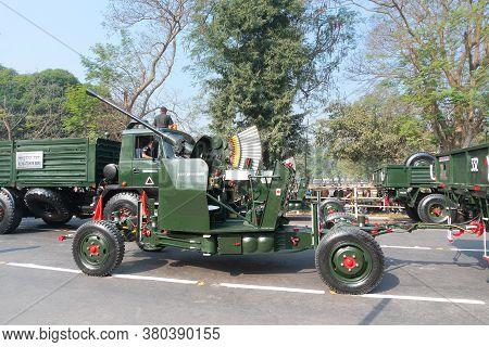 Kolkata, West Bengal, India - 26th January 2020 : Indian Army Displaying The Flycatcher Radarsystem,