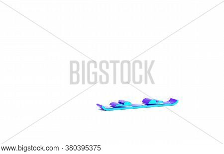 Turquoise Snowboard Icon Isolated On White Background. Snowboarding Board Icon. Extreme Sport. Sport