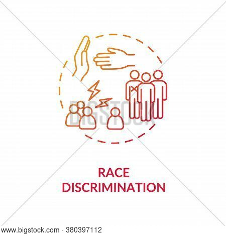 Race Discrimination Concept Icon. Racial Intolerance Idea Thin Line Illustration. Racism. Desegregat