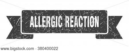 Allergic Reaction Grunge Vintage Retro Band. Allergic Reaction Ribbon