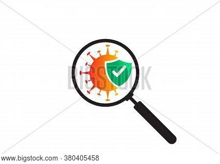 Antiviral Antibacterial Coronavirus Formula Vector Icon. Symbol Of The Fight Against Find Coronaviru