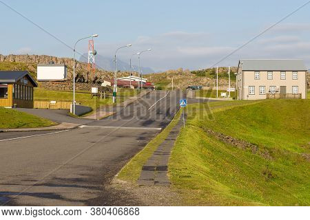 Djupivogur, Iceland - 24 August 2015: View Of The Center Djuupivogur, Small Town In The East Coast I