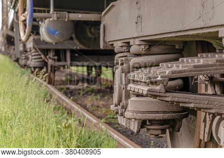 Railroad Train Freight Wagons Compound And Other Wagon Parts.