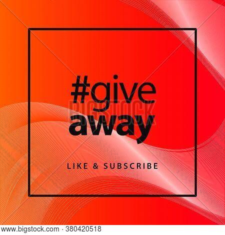 Simple Modern Trendy Giveaway Banner Design Template For Social Media Post