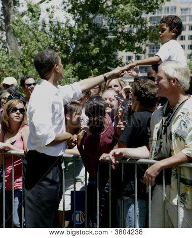 Barak Obama And Child