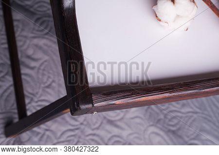Tasty Breakfast On A Wooden Table Tray