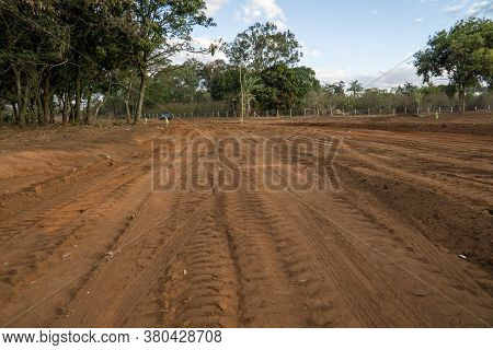 Brasilia, Brazil August 10, 2020: Land That Local Indigenous People Were Living On That Is Being Cle