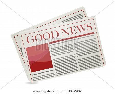 Good News Newspaper Illustration Design