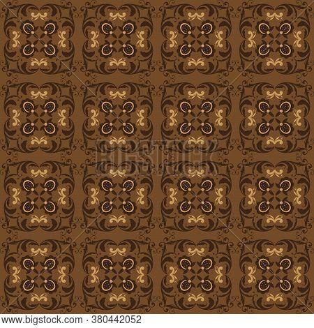 Exclusive Flower Pattern For Bantul Batik With Elegant Dark Brown Color Design.