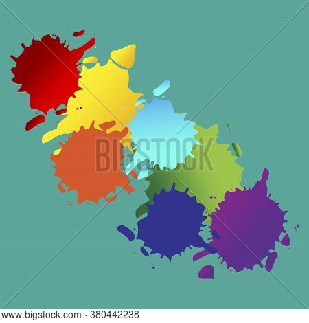 Vector Abstraction From Blots. Splashes Of Paint. Illustration Of Colored Ink Blots. Grunge Drawing.