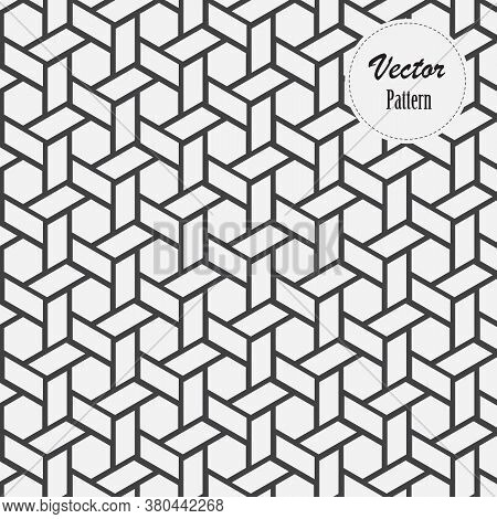 Linear Pattern With Crossing Thin Poly Lines, Polygons. Abstract Geometric Texture. Pattern Is On Sw
