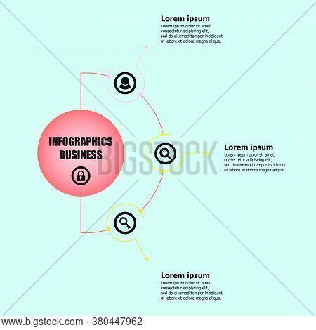 The Circle Vector Design Template For Illustration. Planning Design Presentation Business Infographi