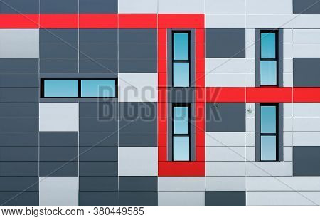 Illustration Of Colored Buildings And Windows, Concept Of Windows And Buildings With Colors