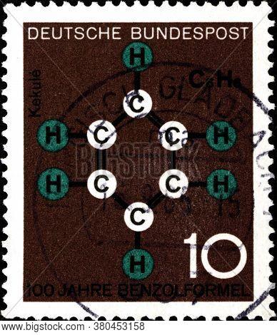 02 11 2020 Divnoe Stavropol Territory Russia The German Postage Stamp 1964 Anniversaries In Technic