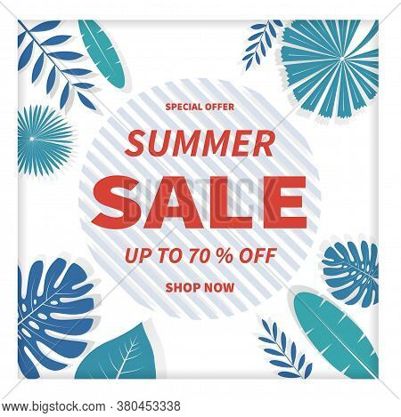 Dynamic Business Advertising Summer Sale. Marketing, Commerce, Design Special Banner, Promotion Post