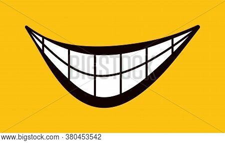 World Of Smiles. Happiness And Joy Vector Set. The Icon Symbolizes A Cheerful Mood, A Smile, Good Em
