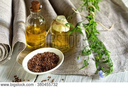 Flax Products, Linen Textiles, Linseed Oil And Flax Seed