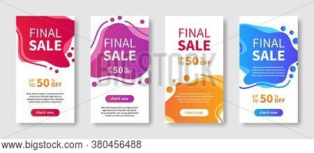 Dynamic Modern Liquid Abstract Mobile Background For Sale Banners. Final Sale, Banners For Web Desig