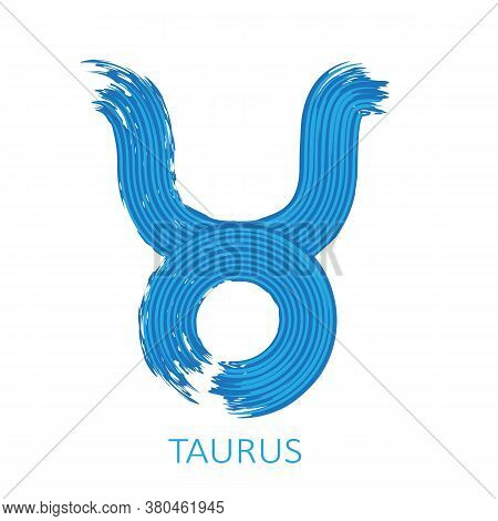 Zodiac Sign Taurus Isolated On White Background. Zodiac Constellation. Design Element For Horoscope