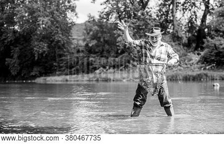 The Day You Finally Stop Working. Sport Activity. Trout Bait. Pothunter. Man Catching Fish. Mature M