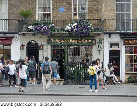 London / Uk - 27 Jul 2013: Sherlock Holmes Museum In London City, England