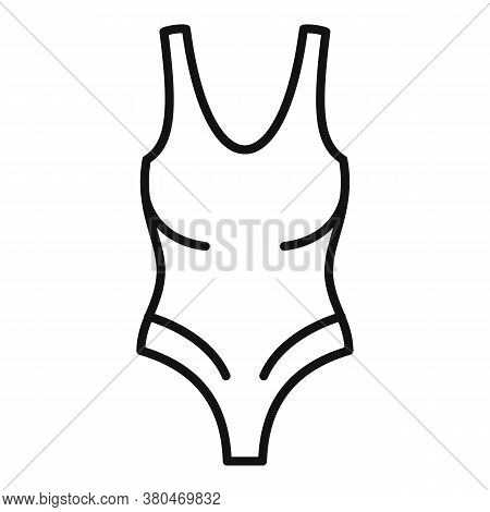 Glamour Swimsuit Icon. Outline Glamour Swimsuit Vector Icon For Web Design Isolated On White Backgro