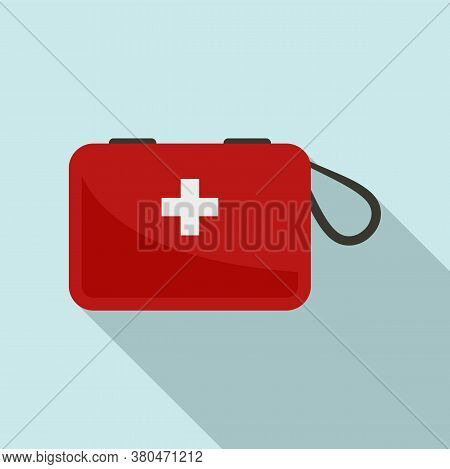Survival First Aid Kit Icon. Flat Illustration Of Survival First Aid Kit Vector Icon For Web Design