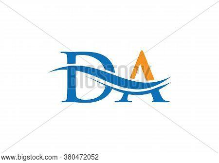Da Logo Vector. Swoosh Letter Da Logo Design For Business And Company Identity.